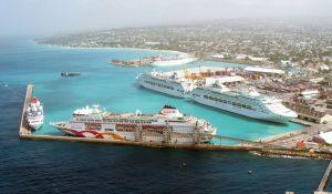 Barbados Harbour cruise ships