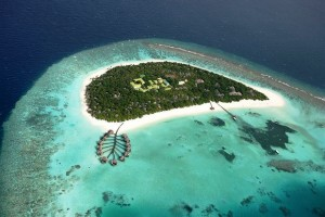 Coco Palm Dhuni Kolhu Beach aerial view