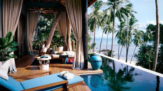Four Seasons Kohsamui private pool deck