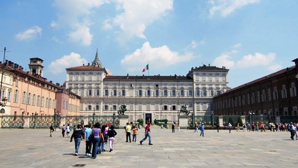 Piazza Castello in Turin Italy
