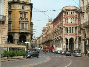 Turin Italy street views