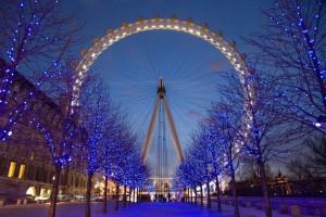 Christmas in London Londons eye