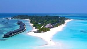 kuredu resort aerial