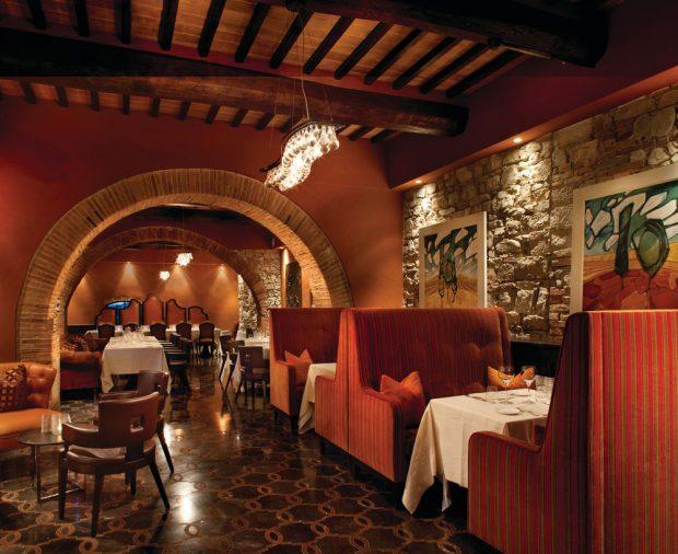 Castello DI Casole restaurant tuscany Italy