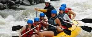 The Nayara Hotel Spa and Garden white water rafting