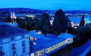 Baur au Lac Hotel at night