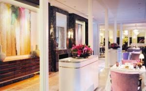 Baur au Lac Hotel dining room
