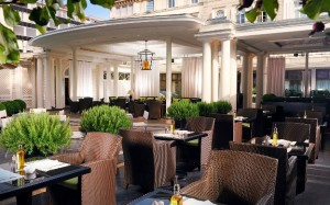 Baur au Lac Hotel outdoor dining