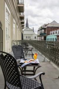 Bourbon Orleans Hotel breakfast on the veranda