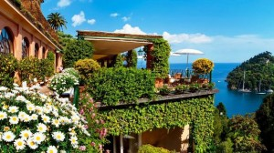 Hotel Splendido exterior terrace cliff view