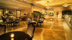 The Davenport hotel and tower lobby area