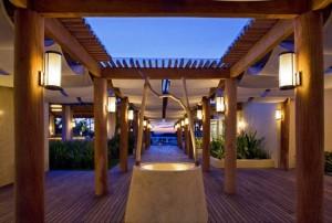 The St. Regis Punta Mita Resort beach club entrance