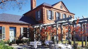 Wentworth Mansion restaurant exterior patio