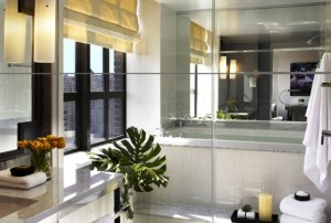 Hotel Palomar Philadelphia guest bathrooms