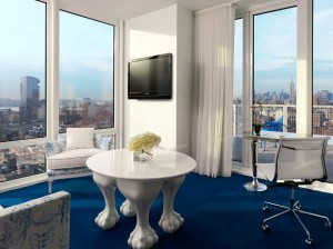 Mondrian Soho guest room living area
