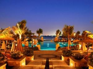 Sofitel The Palm pool at night