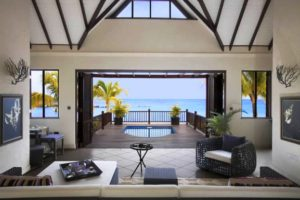 Buccament Bay Resort beach fron villa