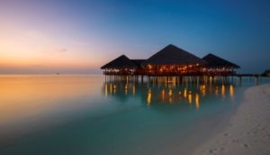 Medhufushi Island Resort evening dining