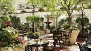 Ritz New Orleans courtyard