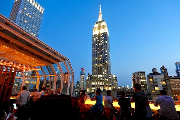 The Strand Hotel rooftop bar view