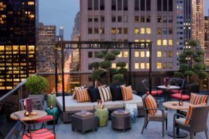 Library Hotel roof deck