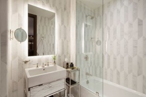 The Marmara Park Avenue guest room bathrooms