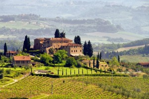 Tuscany wine country