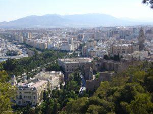 Malaga Spain aerial