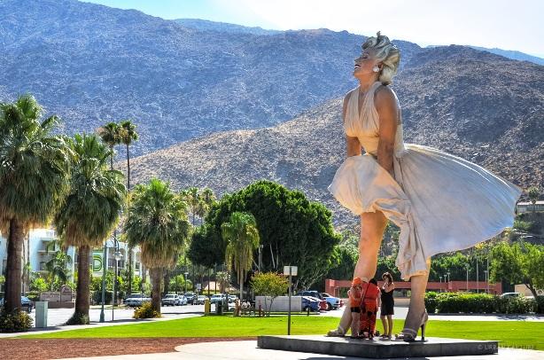 Marilyn Monroe Statue Palm Springs California