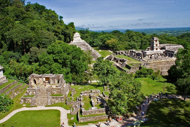 The monumental ruins of Palenque
