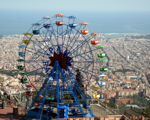 Tibidabo Amusement Park Barcelona Spain