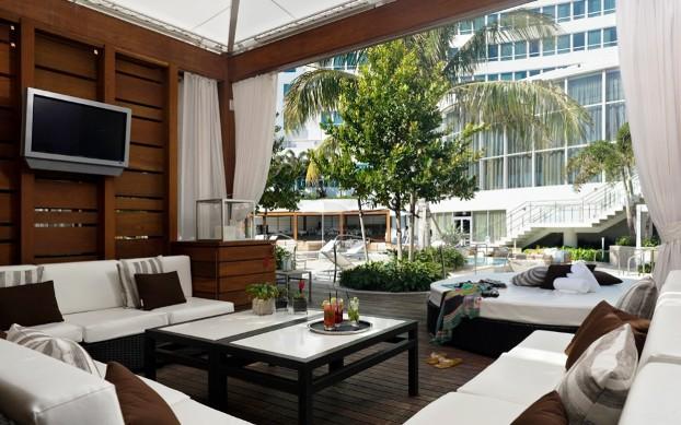 Fontainebleau Miami Beach Florida cabanas