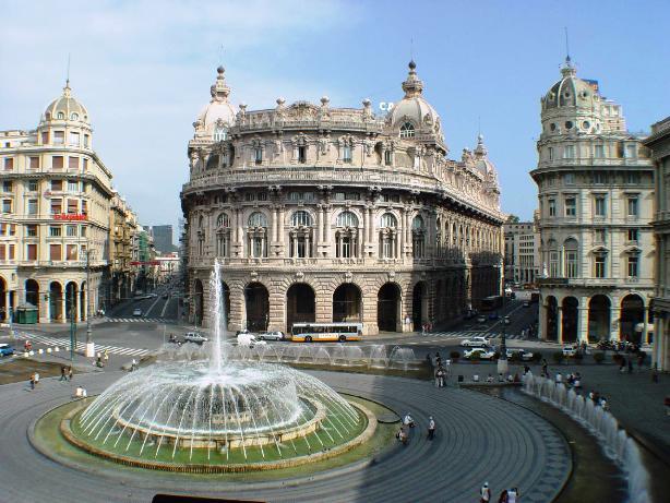 Plaza Genoa, Italy