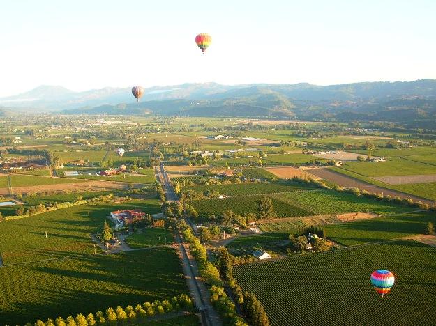 Napa Valley aerial