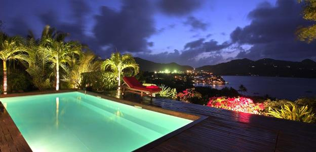 St Barts The view by night