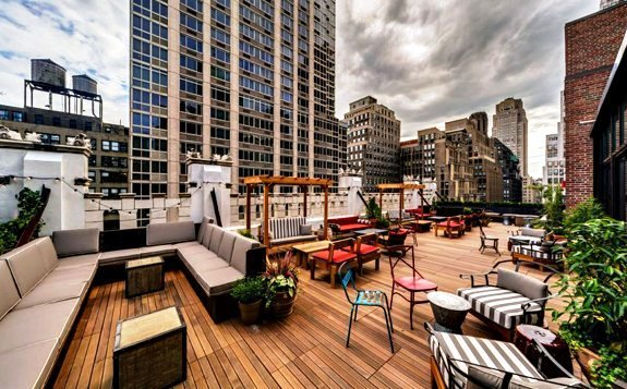 Refinery Hotel rooftop