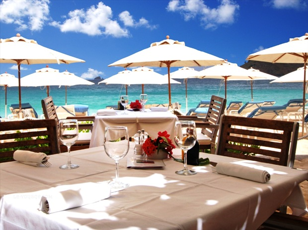 Saint Barth Isle de France Hotel outdoor dining