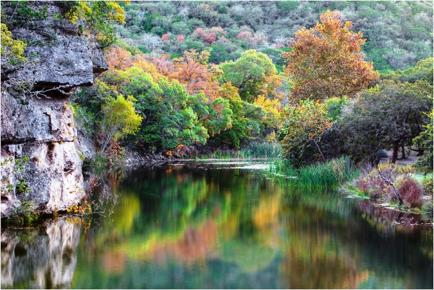 Texas Hill Country waterhole