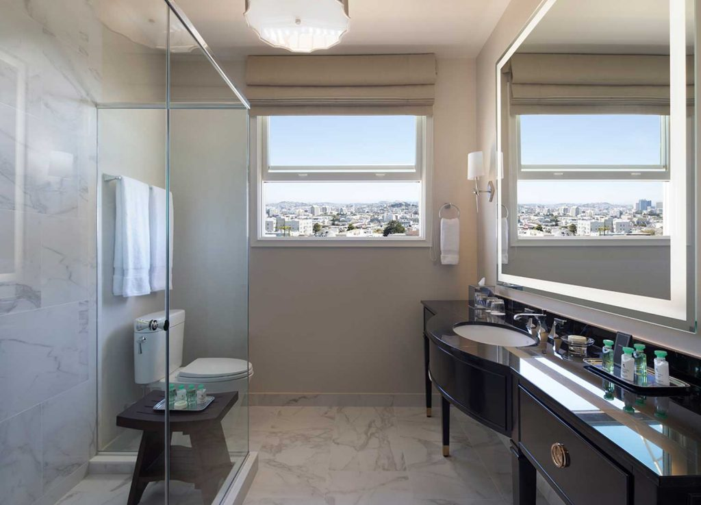 hotel drisco guest suite bathroom