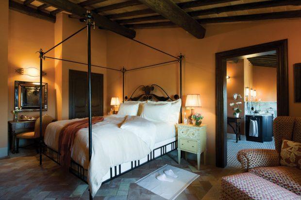 Castello DI Casole guest rooms tuscany Italy