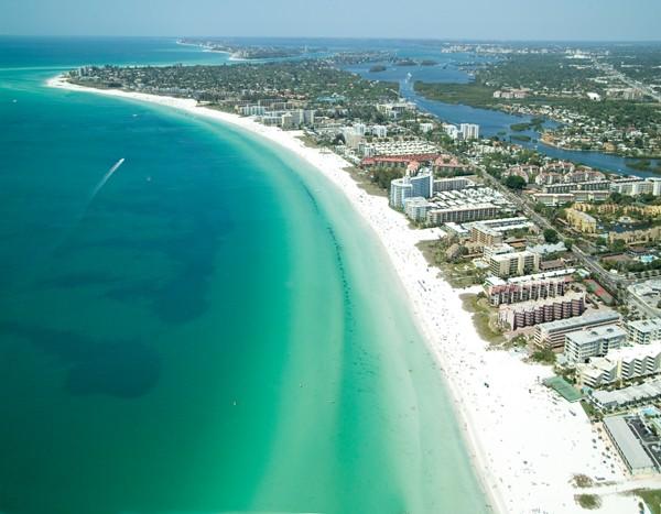 Siesta Key Beach beach aerial