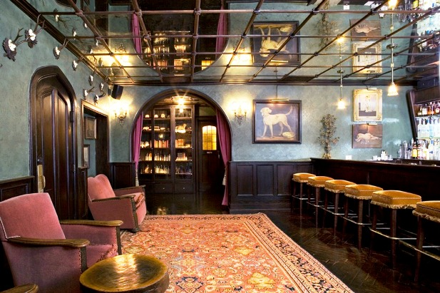 The Bowery Hotel lobby bar