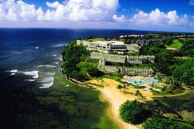 St. Regis Princeville Kauai aerial