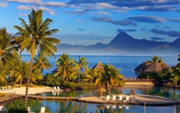 Sunset Polynesia Tahiti