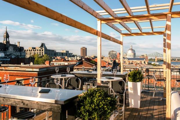 Auberge du Vieux-Port roof top dining