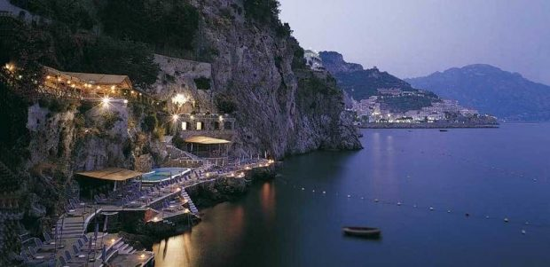 Hotel Santa Caterina night view