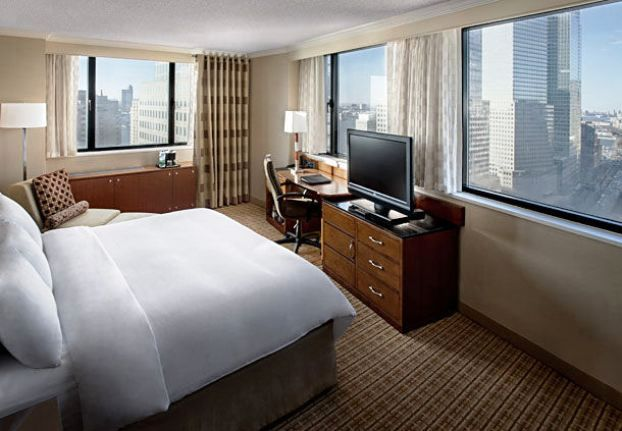 New York Marriott Downtown guest rooms
