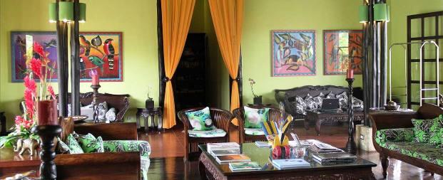 The Nayara Hotel Spa and Garden lobby