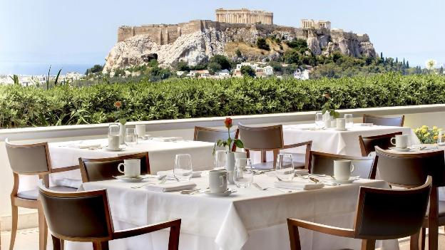 Hotel grande bretagne athens roof garden restaurant and bar breakfast