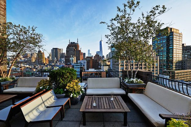 Sixty Soho Hotel roof top bar